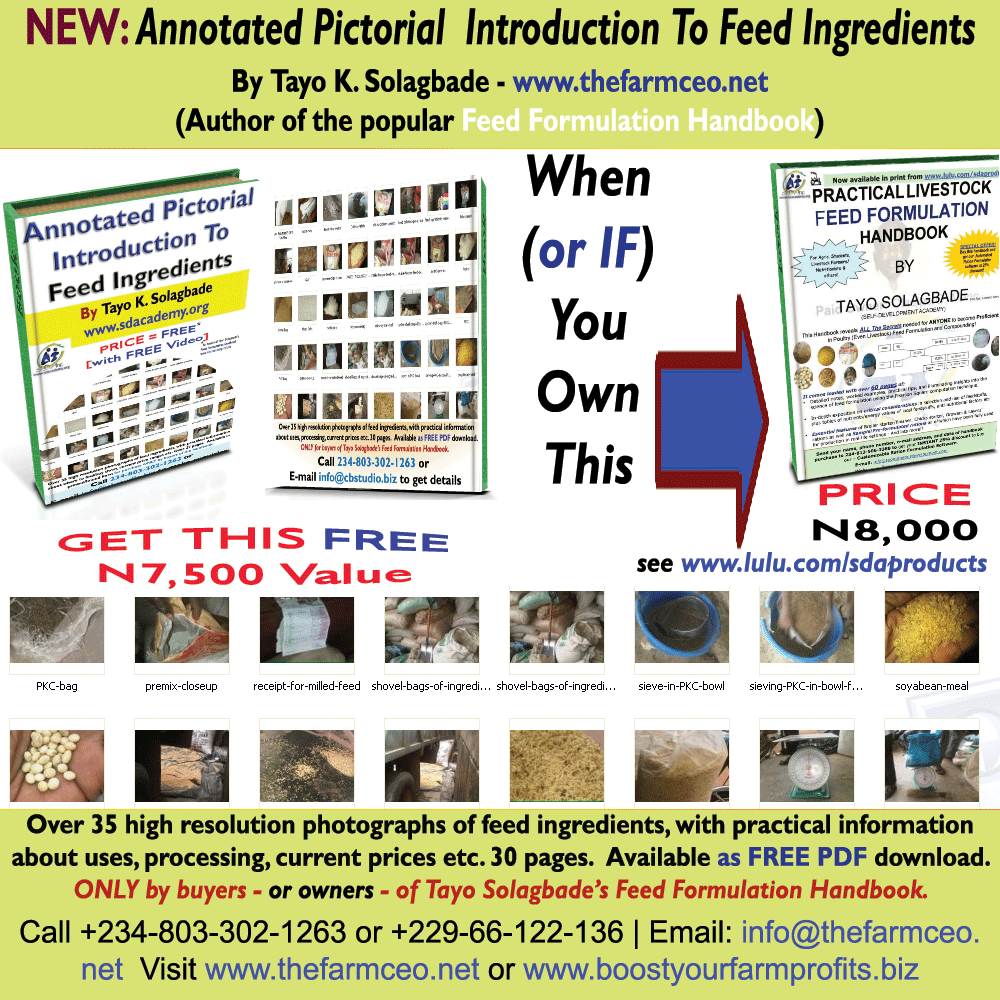 Annotated Pictorial  Introduction To Livestock Feed Formulation Ingredients