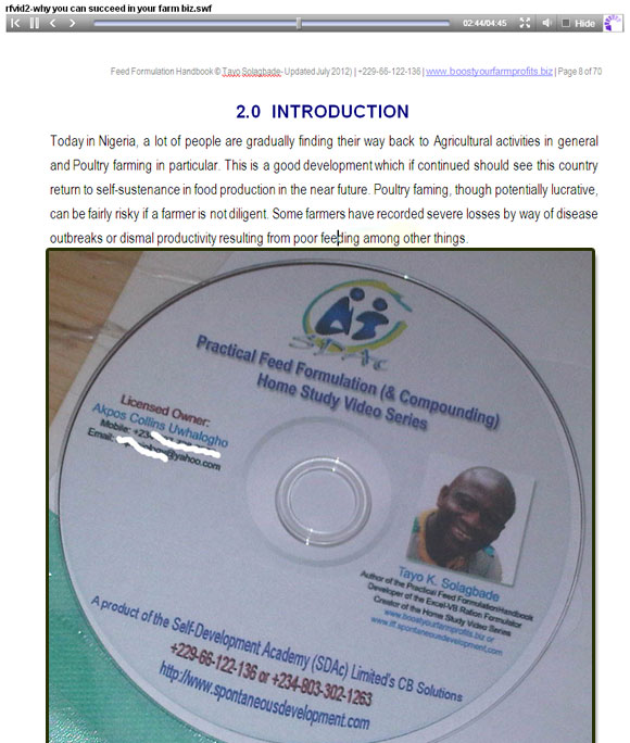 Screenshot of Video No. 2 (out of 33) in my New Practical Feed Formulation (& Compounding) Home Study Video Series. Email tayo at tksola dot com, and I'll send you a download link to the full video and audio versions.