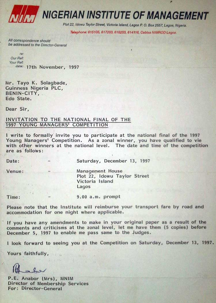 I flopped badly at the national finals a true story about how invitation letter after coming across the call for entries in a national daily i stopboris Image collections