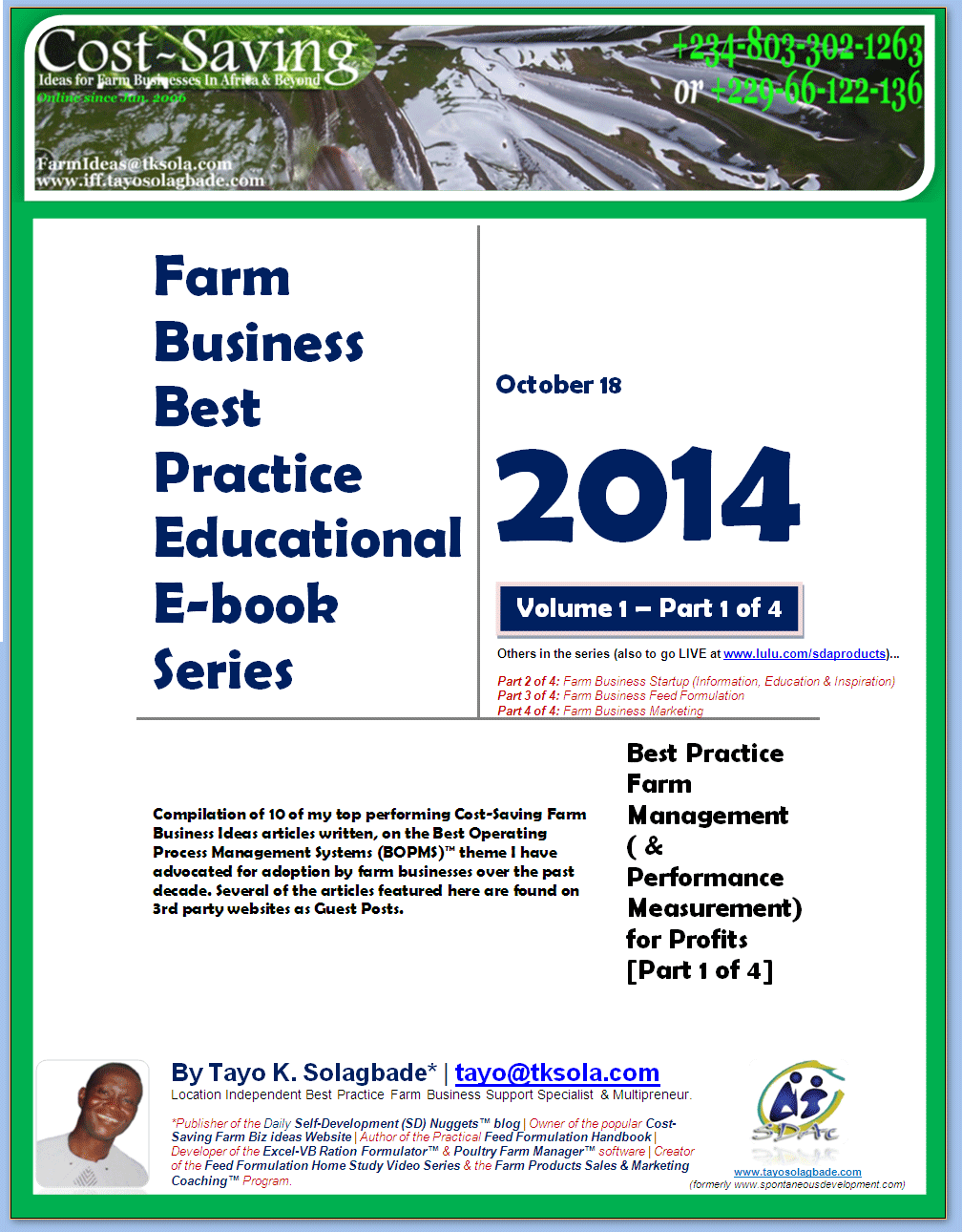 NEW E-BOOK] 10 Highly Educative Articles on Best Practice Farm ...