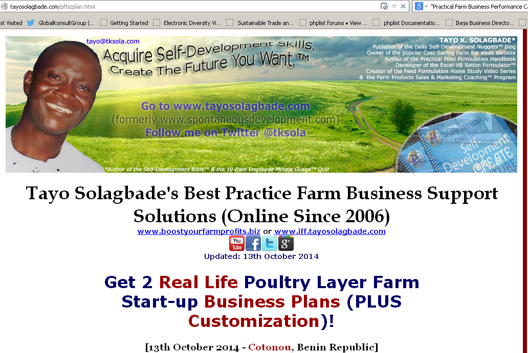 Click to view offer page - Screenshot of offer page - Get 2 Real Life Poultry Layer Farm Start-up Business Plans (PLUS Customization)!