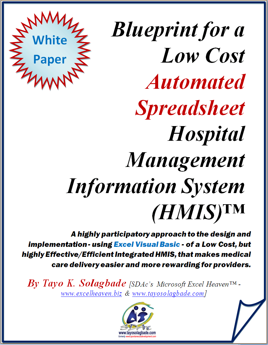 White paper pdf blueprint for a low cost automated spreadsheet white paper ebook cover blueprint for a low cost automated spreadsheet hospital management information system malvernweather Image collections