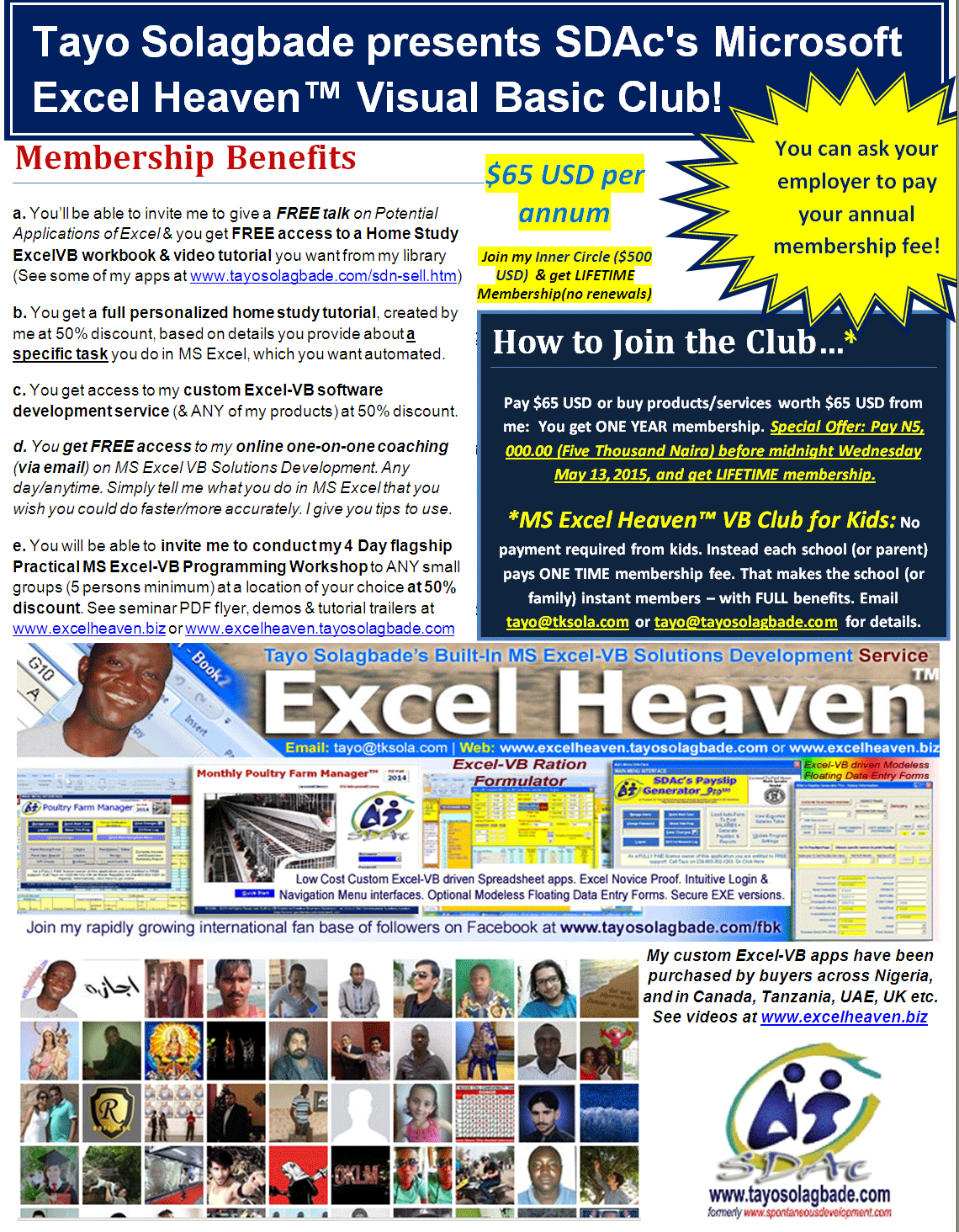 Click to download flyer - Join My Spreadsheet Solutions Development Club and Boost Your Productivity