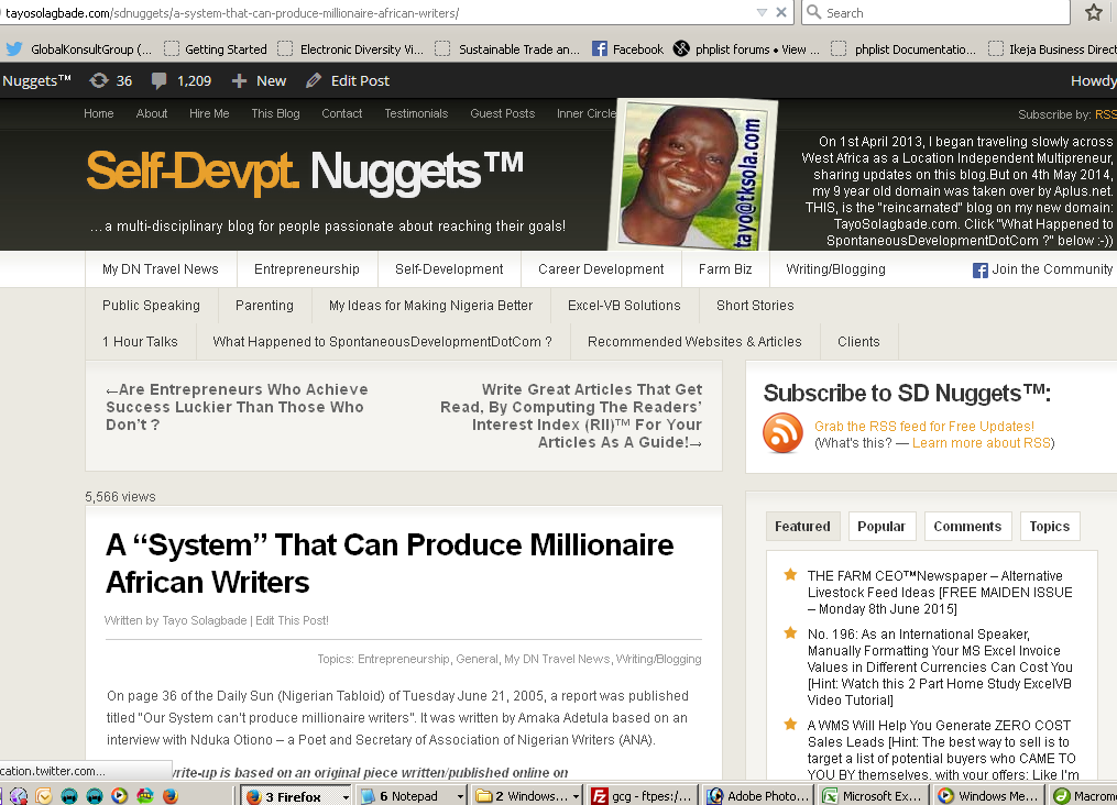 """Click to read - A """"System"""" That Can Produce Millionaire African Writers"""
