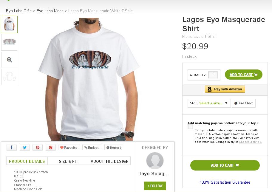 Lagos Eyo Masquerade Shirt