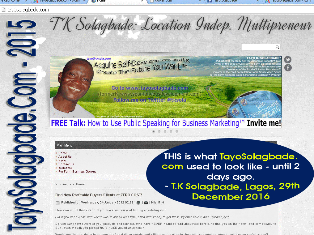tayosolagbade-dot-com-2015 - THIS is what TayoSolagbade.com used to look like - until 2 days ago.
