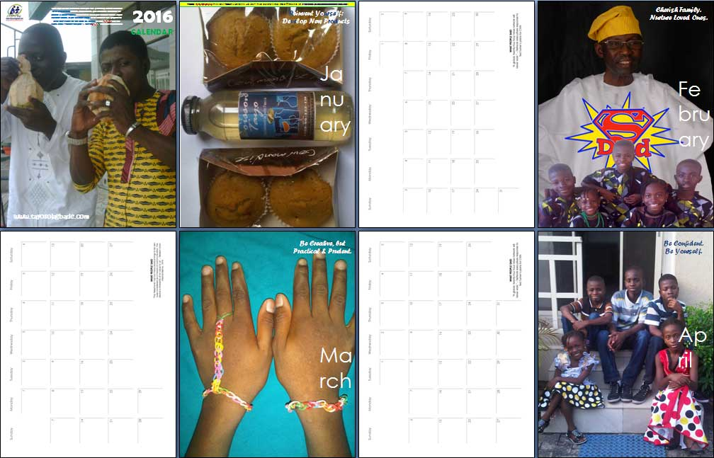 Screenshot of pages from my FREE 2016 Branded PDF Calendar/Meeting Planner - click to download it now