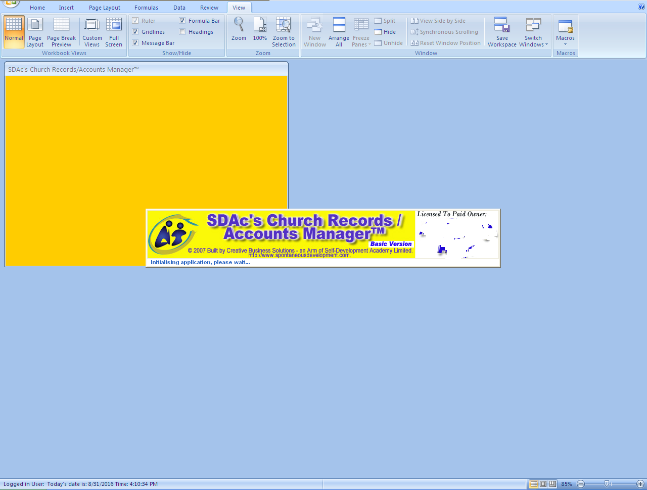 Workbooks unhide personal workbook : Get my Customizable Excel-VB Church Records Manager FREE [N50k ...