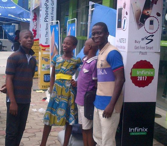 With my kids at the Ikeja Computer Village in Nigeria's Lagos