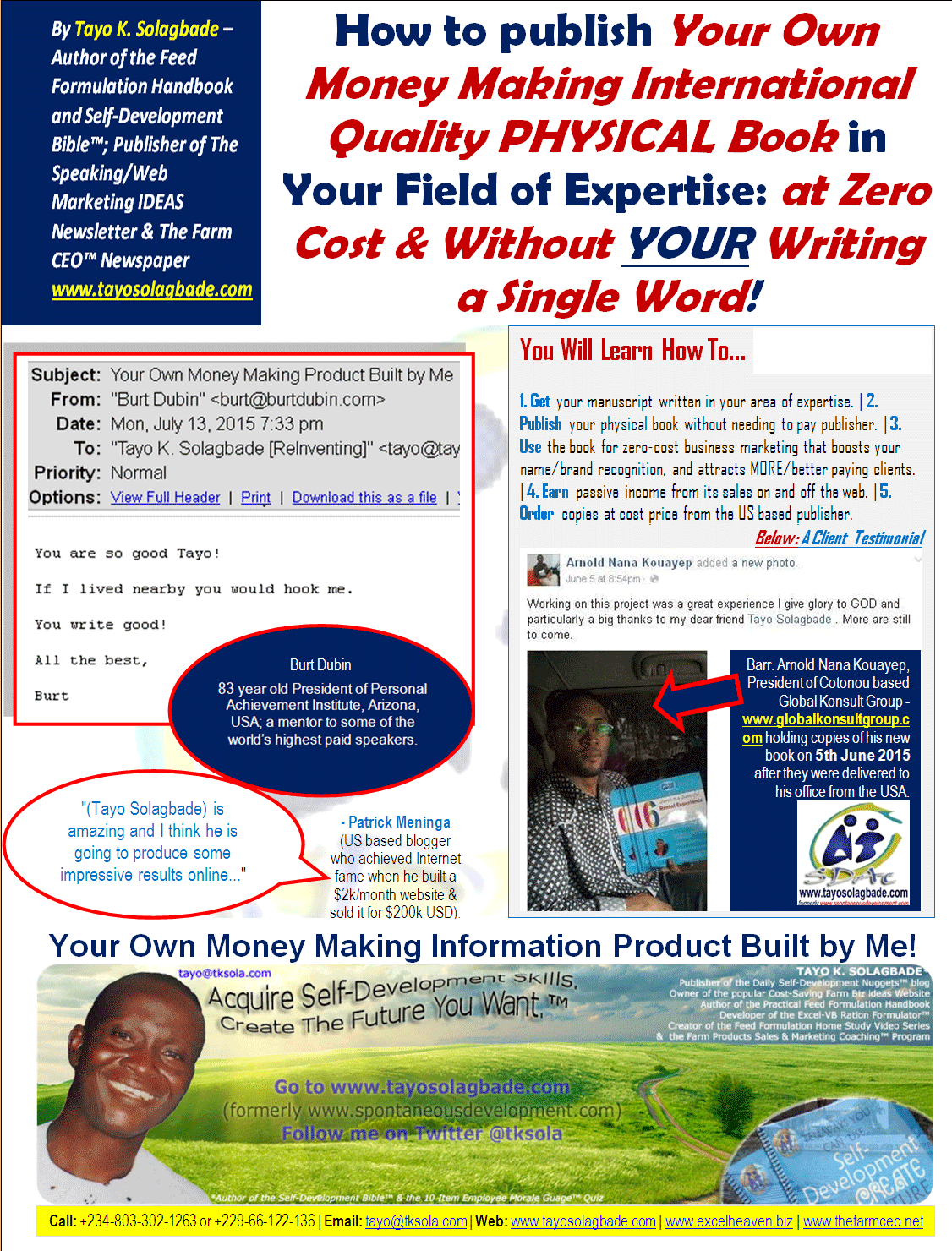 Click to view large version of this flyer, in which a client and 2 proven experts comments about me are reproduced