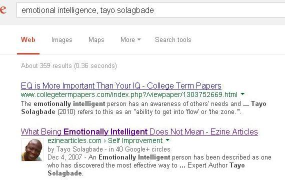 Later on I discovered some college term papers published online on the subject of Emotional Intelligence, quoted from my article on Emotional Intelligence.