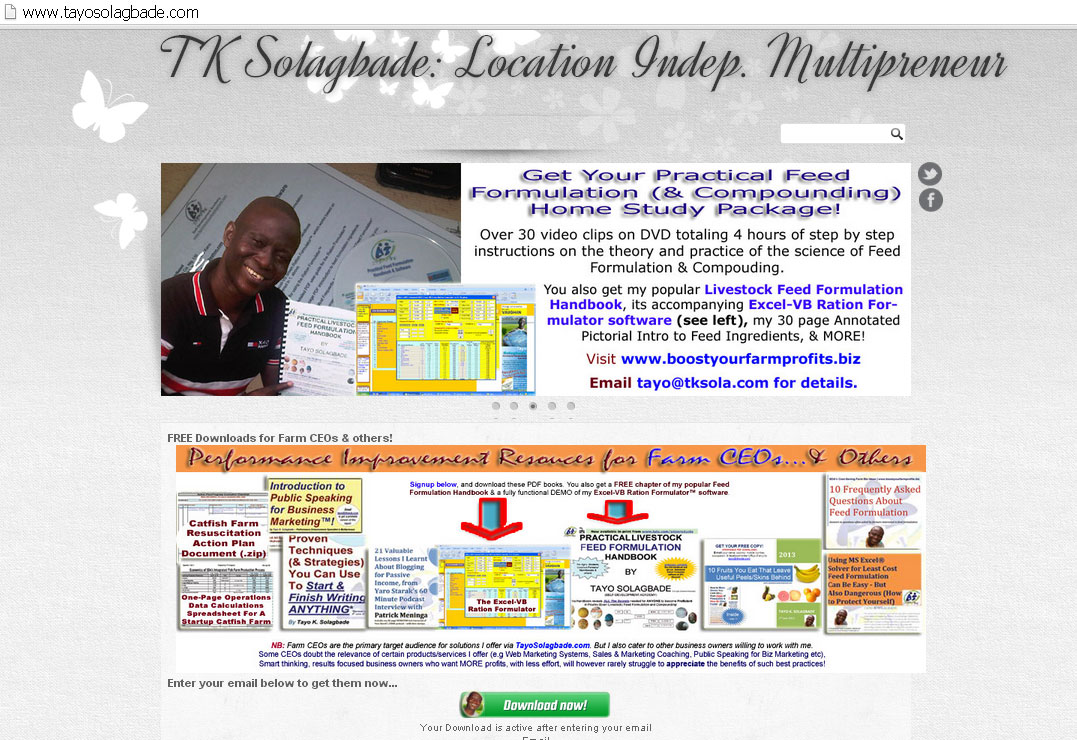 Click now to view the lastest updates to TayoSolagbade.com