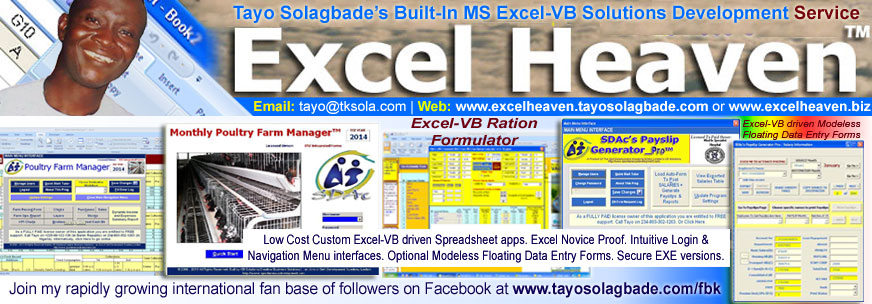 Click to visit Tayo Solagbade's Excel Heaven mini-site: www.excelheaven.tayosolagbade.com (opens in new browser window)